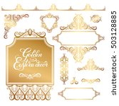 set of floral golden eastern... | Shutterstock .eps vector #503128885
