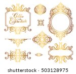 floral golden eastern decor... | Shutterstock .eps vector #503128975