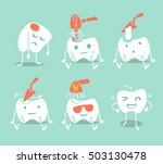 cute tooth treatment. vector... | Shutterstock .eps vector #503130478