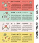 charity and donation ... | Shutterstock .eps vector #503130496