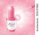 flower serum and flower... | Shutterstock .eps vector #503137882