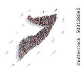 people group shape map somalia | Shutterstock . vector #503138062