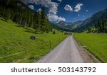 dirt road in the mountains  ... | Shutterstock . vector #503143792