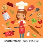 cooking time. girl character...