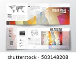set of tri fold brochures ... | Shutterstock .eps vector #503148208