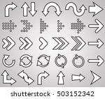 arrow. arrows icons. arrows... | Shutterstock .eps vector #503152342