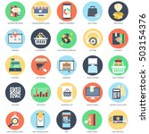 flat conceptual icon set of e... | Shutterstock .eps vector #503154376