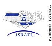 handshake logo made from the... | Shutterstock .eps vector #503156626