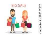 big sale concept. isolated... | Shutterstock .eps vector #503159776