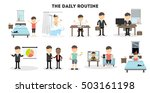 businessman daily routine. life ...   Shutterstock .eps vector #503161198