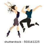 isolated professional dancers... | Shutterstock .eps vector #503161225