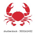 silhouette crab in stencil... | Shutterstock .eps vector #503161432