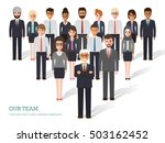 group of business men and women ... | Shutterstock .eps vector #503162452