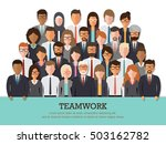 group of businessman and... | Shutterstock .eps vector #503162782