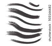 modern textured brush stroke.... | Shutterstock .eps vector #503166682