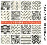 seamless zig zag pattern set....   Shutterstock .eps vector #503171482