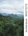 khao sok landscape view of epic ... | Shutterstock . vector #503172172