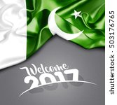 welcome 2017 pakistan  | Shutterstock . vector #503176765
