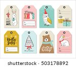 set of christmas gift tags | Shutterstock .eps vector #503178892