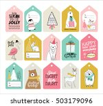 set of christmas gift tags | Shutterstock .eps vector #503179096