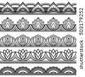 set of seamless borders for... | Shutterstock .eps vector #503179252
