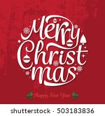 merry christmas and happy new... | Shutterstock .eps vector #503183836