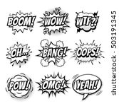 vector comic speech bubble with ... | Shutterstock .eps vector #503191345