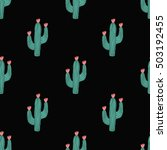 Seamless Pattern With Cactus...
