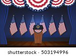 president podium on stage with... | Shutterstock .eps vector #503194996