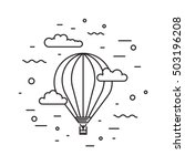 Dirigible And Hot Air Balloons...