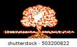atomic mushroom in style pixel
