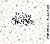 merry christmas vector greeting ... | Shutterstock .eps vector #503205106