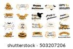 halloween typography  lettering.... | Shutterstock .eps vector #503207206