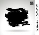 brushstroke and texture. vector ... | Shutterstock .eps vector #503208532