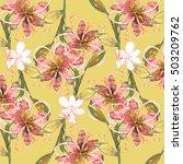 bouquet flowers  watercolor... | Shutterstock . vector #503209762