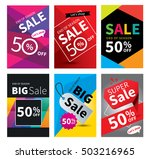 social media sale banners and... | Shutterstock .eps vector #503216965