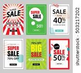 set of sale website banner... | Shutterstock .eps vector #503217202