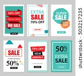 set of sale website banner... | Shutterstock .eps vector #503217235