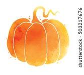 happy halloween  hand written... | Shutterstock .eps vector #503217676