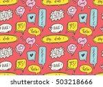 cute speech bubble seamless... | Shutterstock .eps vector #503218666
