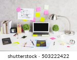 creative designer desktop with... | Shutterstock . vector #503222422