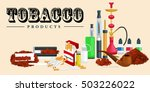 smoking tobacco products icons... | Shutterstock .eps vector #503226022