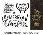 xmas hand drawn calligraphy and ... | Shutterstock .eps vector #503227612