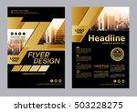 gold brochure layout design... | Shutterstock .eps vector #503228275