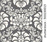 vector damask seamless pattern... | Shutterstock .eps vector #503230015