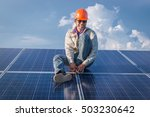engineer working on ... | Shutterstock . vector #503230642