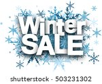 white winter sale background... | Shutterstock .eps vector #503231302