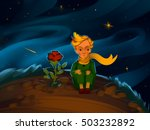 the little prince and the rose...   Shutterstock . vector #503232892