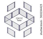 isometric fence in light colors ... | Shutterstock .eps vector #503234425