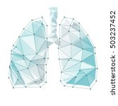 lungs symbol. breathing. lunge... | Shutterstock .eps vector #503237452